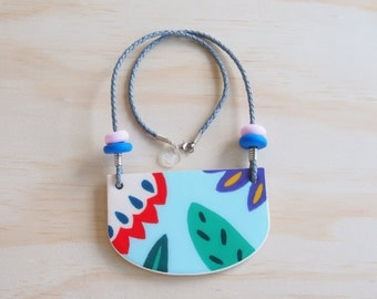 Resin Necklace | Wearable Art | Handmade | Frankie Good Stuff Awards Entry | 'Go Together' - Kyoto