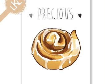 Precious Cinnamon Roll Greetings Card