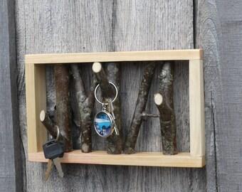 Unique Wood Key Holder,  Wood Key Holder, Natural Stick Key Holder, Rustic Key Holder, Key Organizer