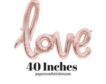 "Love Balloon Banner 40"" Rose Gold| Rose Gold Balloon | Rose Gold Love | Love balloon | Rose Gold Decorations | Rose Gold Wedding | Rose Gold"