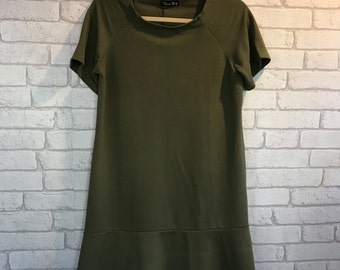 Items Similar To Autumn Olive Girls High Low Feather Dress