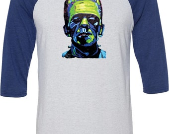 Men's Frankenstein Face Raglan Shirt 20719NBT2-3200