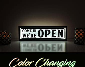 Light Up Business Sign, Open Sign, Open Light, Open Closed Sign, Open Bar Sign, Ambient Light, Remote Control Sign, Business Signage