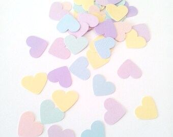 OVER THE RAINBOW Pastel- Confetti / Table Scatters - Rainbow Party Decoration