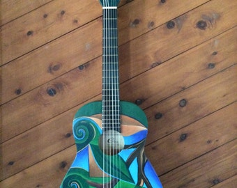 Original art work on guitar!