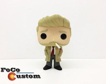 Custom Funko Pop! John Constantine (DC/Vertigo, Justice League Dark, Swamp Thing, Zatanna, Batman, Wonder Woman, Injustice, Doctor Fate)