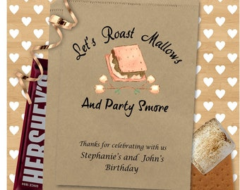 Personalized Smore's Bags - Smores - Birthday Party Favors - Party Smore - 0a38SB