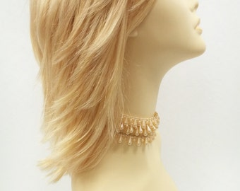 12 inch Butterscotch Blonde Shag Style Wig. Straight and Layered w/ Bangs. Anime Cosplay Wig. [12-82B-Cosmic-BSC]