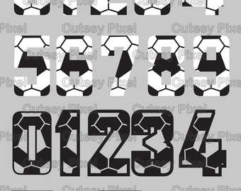 Soccer numbers Svg, cutting file, soccer SVG, DXF, Cricut Design Space, Silhouette Studio,Digital Cut Files, sports numbers svg