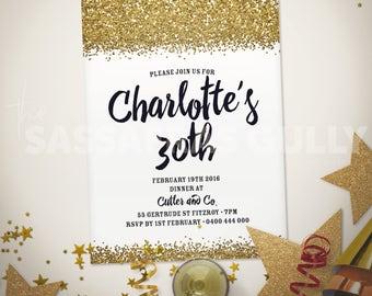 All That Glitters Personalised Birthday Invitation
