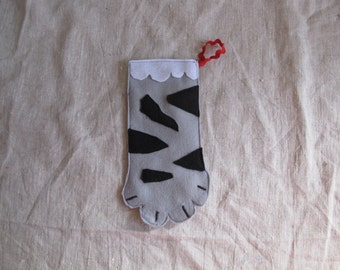 Customizable Cat Paw Stocking