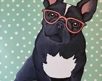 """Custom Acrylic Dog Portrait - 9""""x14"""" with SPECIAL BACKGROUND!"""
