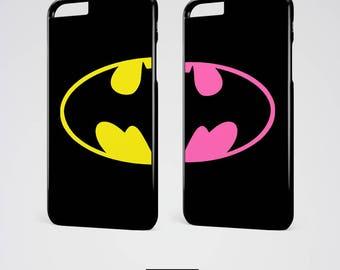 Batman Couple iPhone 7 Case BFF Samsung Galaxy S7 Edge Case Best Friends iPhone 6 Plus Case iPhone 6 Case iPhone SE Case Best Friend Gift