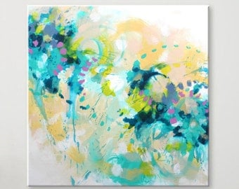 Original abstract painting Large Wall art Abstract art Abstract wall art Painting on Canvas Art Modern artwork Contemporary art Turquoise