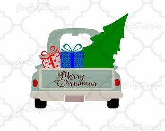 Christmas Antique Truck SVG Vintage truck SVG classic truck svg cut, DXF, eps, png Cut File for Silhouette, Cricut Digital Cut Files