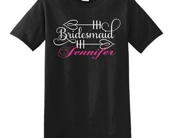 Bridesmaid shirt, bridesmaid gift, custom shirt, custom tshirt, custom t-shirt, personalized shirt, personalized t-shirt