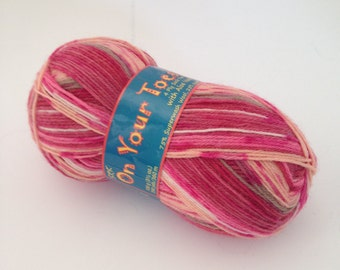 Kertzer On Your Toes Varigated Wool Blend Sock Yarn with Aloe Vera - 100 gram