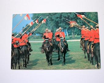 Royal Canadian Mounted Police Postcard / Vintage RCMP musical Ride Poscard / RCMP souvenir