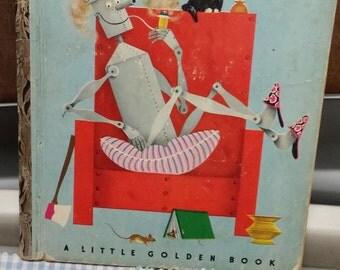 """Tin Woodman of Oz Little Golden Book """"A"""" Edition #159"""