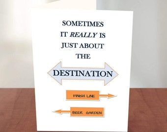 Marathon Card - Funny Card for Runners -  Runner Card - Gifts for Runners - Funny Running Quote - Good Luck on Marathon - For a Runner -