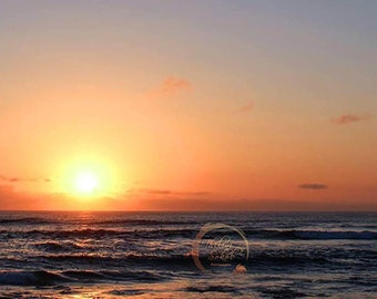 Digital Download Landscape Seascape Beach Sunset Sunrise Photography Canvas Print Fine Art Photograph Instant Download Wall Art Wall Decor
