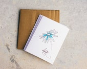 Watercolor Floral Note Card Set | Blank Note Cards | Hand Painted | Watercolor | Pen and Ink
