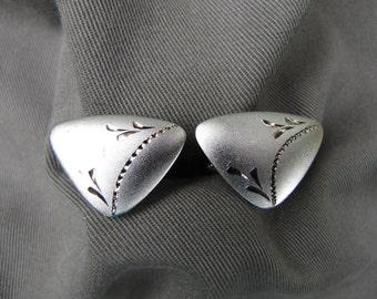 Sterling silver Mod men's cufflinks