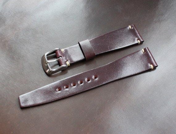 19/16mm Colour #8 Horween Shell Cordovan watch band