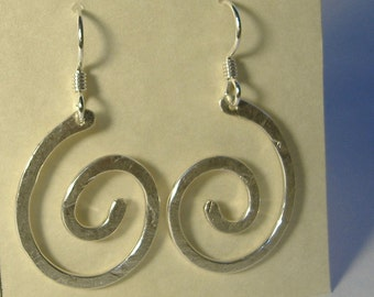 Sterling Silver Spiral Earrings E-27 (lg)