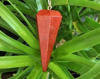 Red Jasper Pendulum/Healing Crystals and Stones infused w/ Reiki