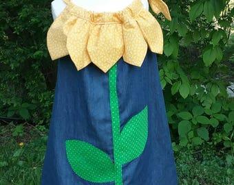 Sunflower Pillowcase Dress