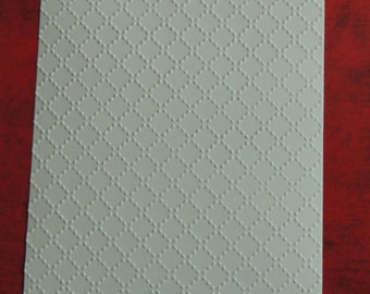 Quilt Stitching,  Embossed Cardstock, Embossed Sheets, Embossed Card Fronts