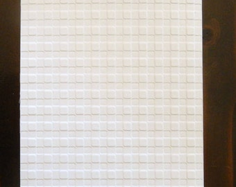 Gingham Embossed Cardstock, Embossed Sheets, Embossed Card Fronts