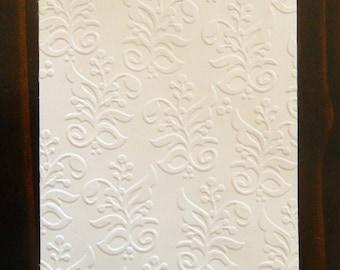 Floral Pattern Embossed Cardstock, Embossed Sheets, Embossed Card Fronts
