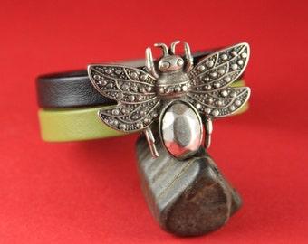 3/10 MADE in EUROPE zamak bee slider, large zamak bee slider, zamak  butterfly spacer, 20mm cord slider (76461/20) Qty1