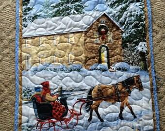 Winter Sleigh Ride Wallhanging