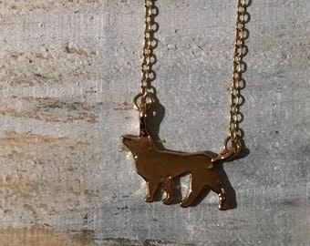 Gold Dog Necklace, Jewlery