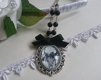 Silent Deer Skull Cameo Necklace
