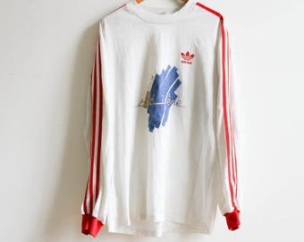 Vintage Adidas Val d'Isère T-shirt Long sleeves (Jersey) size M