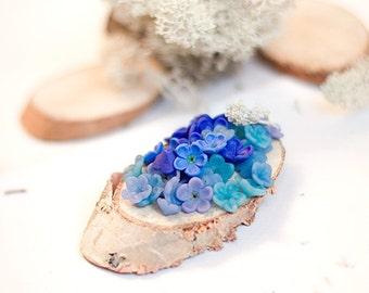 Flowers polymer clay / forgetmenot beads / jewelry supplies / polymer clay jewelry/ floral jewelry / polymer clay flowers / handmade beads
