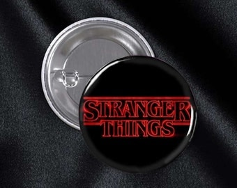 Stranger Things Title 1 1/4 Inch Pinback Button, Backpack Button