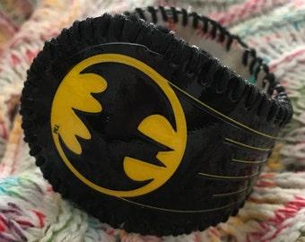 Bat Signal-Batman baseball cuff bracelet