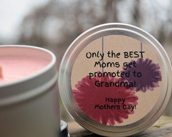 Mothers Day Candle For Grandma!   Mothers Day Gift   Grandma Gift   Soy Candle   Custom Mothers Day Gift   Custom Candle   Grandmother Gift