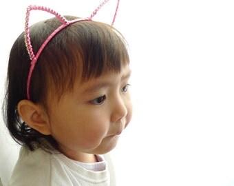Girly Jeweled Cat Ears
