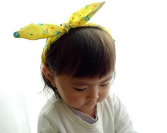 Cute Print Fabric Tied Bow Headband