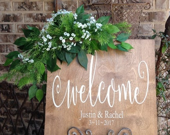Wedding Welcome Sign, Wedding Signs, Welcome Wedding Sign, Wedding Signage, Welcome to Our Wedding Sign, Barn Wedding, Wood Sign Saying