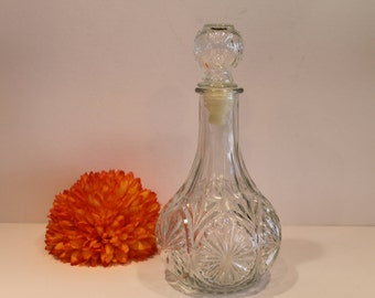 Vintage Glass Liquor Decanter - EAPG Decanter - Liquor bottle