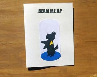 Star Trek Card - Beam Me Up Scottie