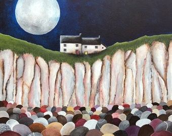 Another Cosy Night In - Limited Edition Fine Art Print from an Original Artwork by Bridget Wilkinson