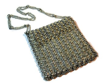 Walborg, Silver, Chain Maille, Metal Mesh, Shoulder Bag, Silver, Metal, Small Purse, Clutch
